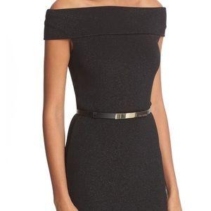 Ted Baker Black Vindy Shimmering Midi Dress size10
